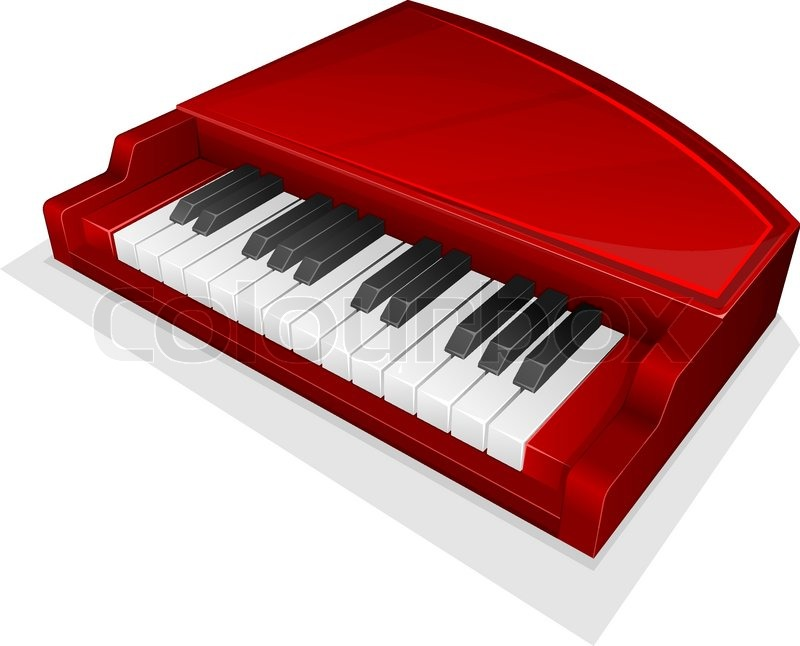 Vector Icon Small Red Piano