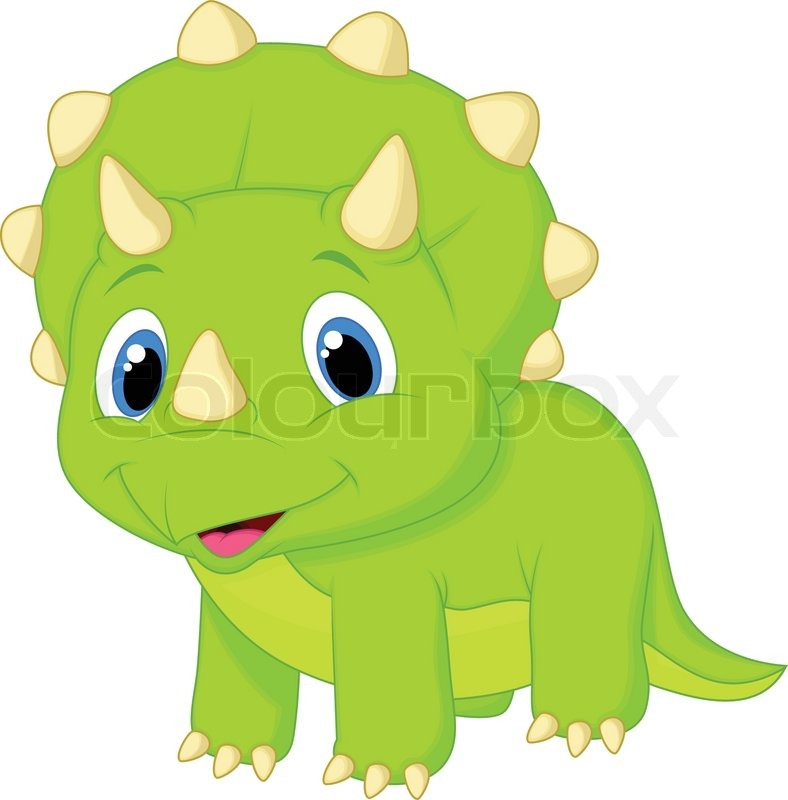 vector illustration of cute baby triceratops cartoon wildlife clipart free download free wildlife clipart images
