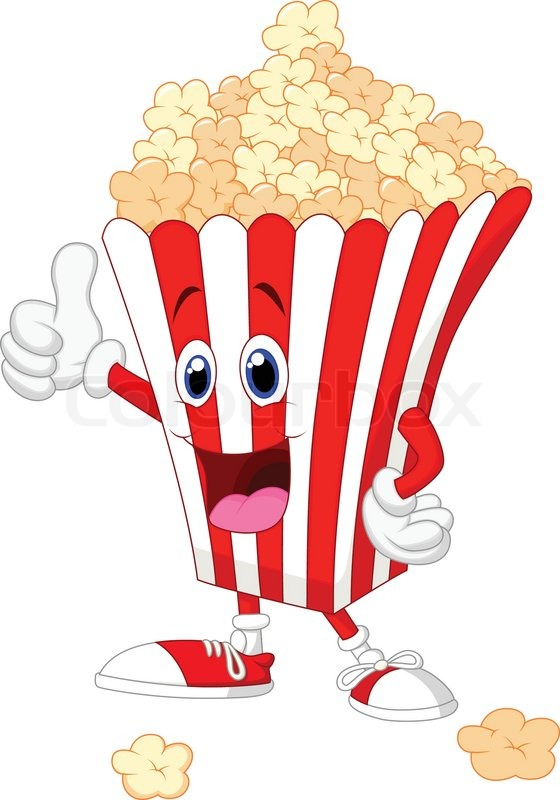 vector illustration of cute popcorn cartoon with thumb up movie theater popcorn clip art free movie theatre popcorn clipart black and white
