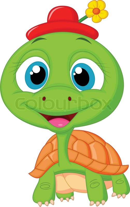 Cute turtle cartoon  Stock Vector  Colourbox