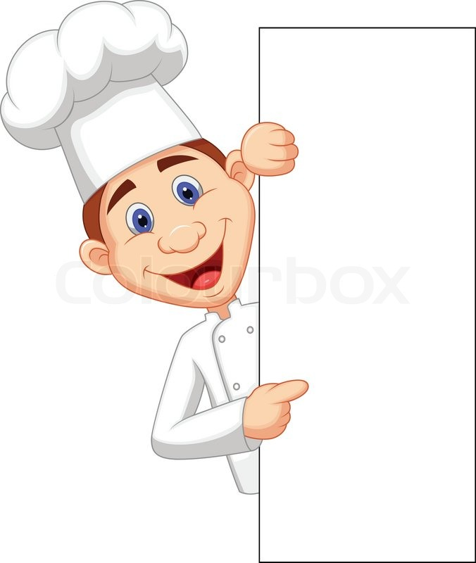 vector illustration of happy chef