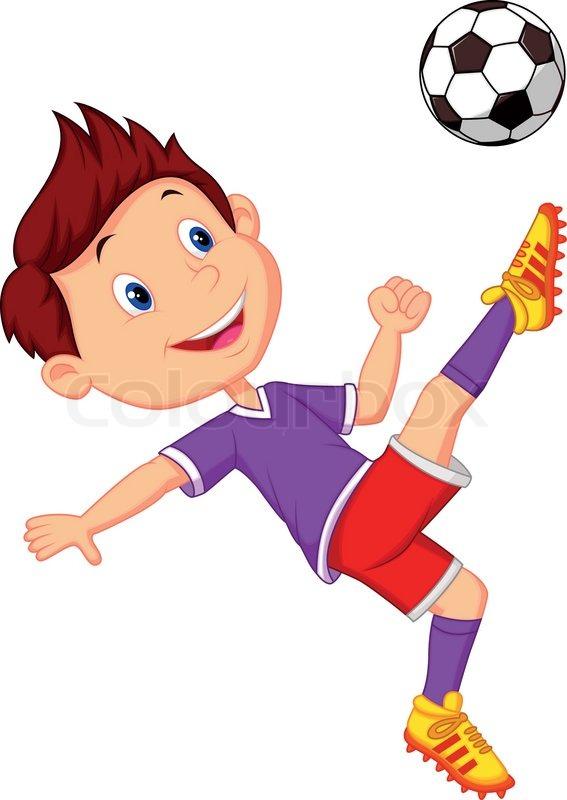 vector illustration of boy cartoon