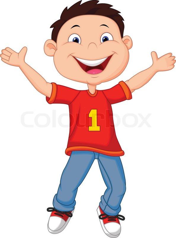 Vector illustration of Happy boy ... | Stock Vector ...