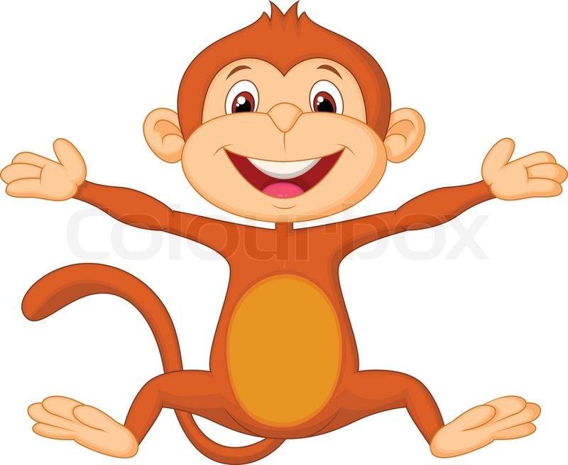 baby monkey cartoon face