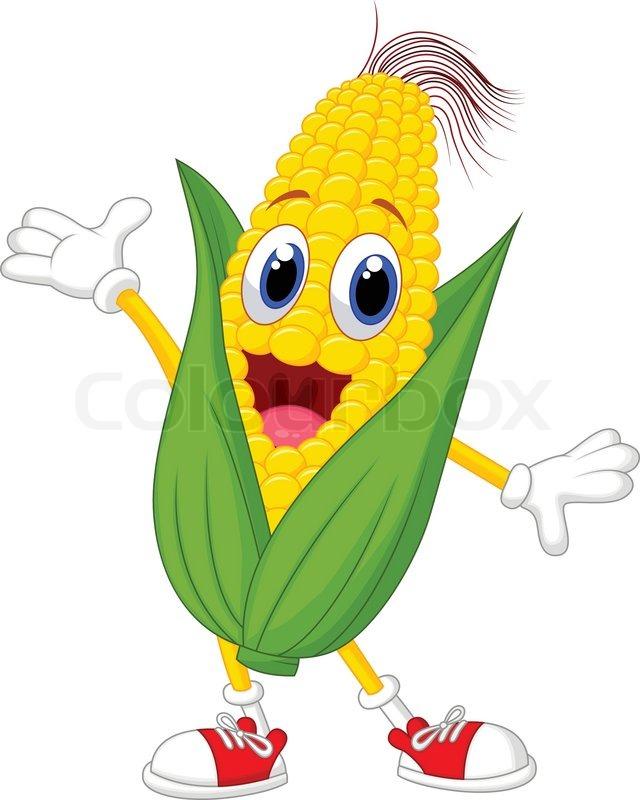 vector illustration of cute corn cartoon character stock corn stalk clipart black and white corn stalk clip art bw