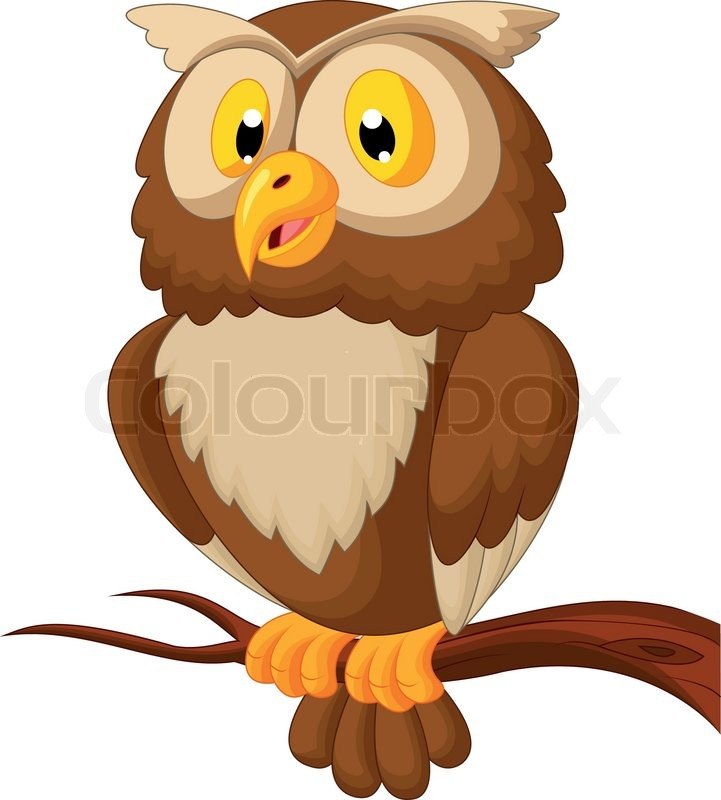 vector illustration of cute owl cartoon stock vector cute owl on branch clip art free owl on a branch clipart