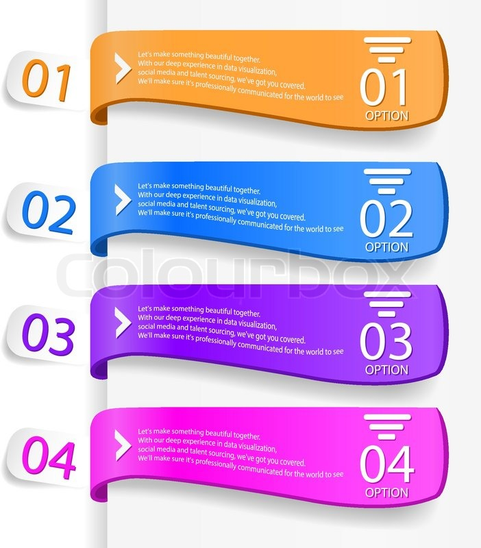 modern infographics options banner stock vector colourbox