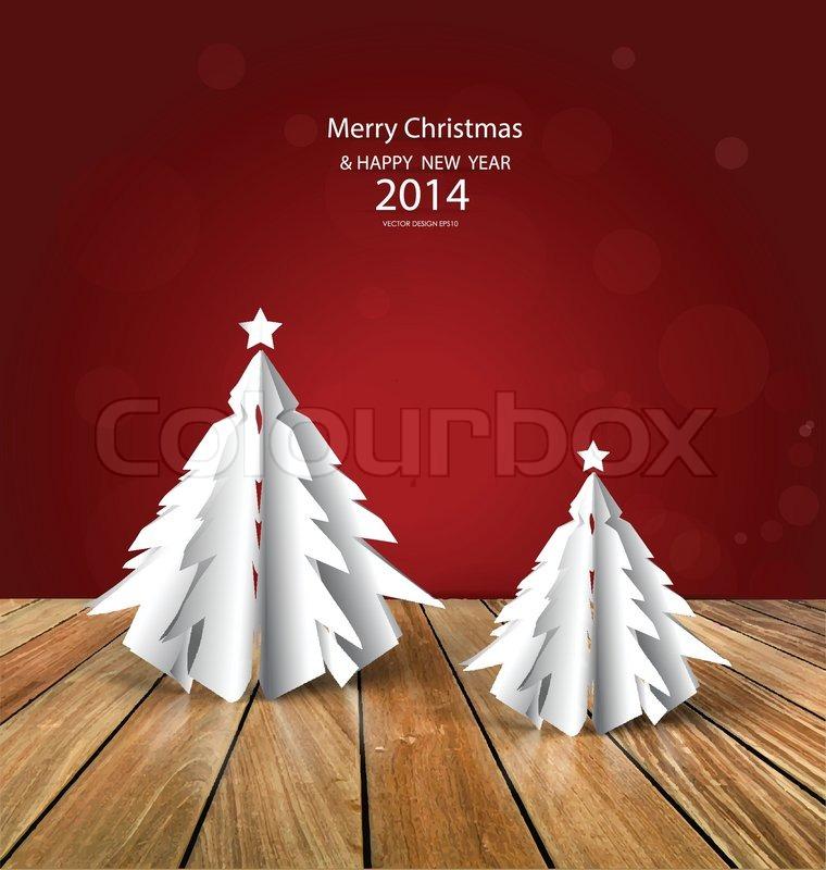 frohe weihnachten gru karte mit origami weihnachtsbaum. Black Bedroom Furniture Sets. Home Design Ideas