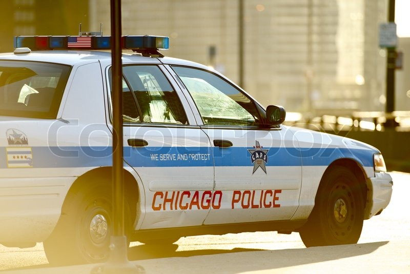 Chicago Police Cruiser. Safety Enforcement Vehicle. Chicago, Illinois, USA, stock photo