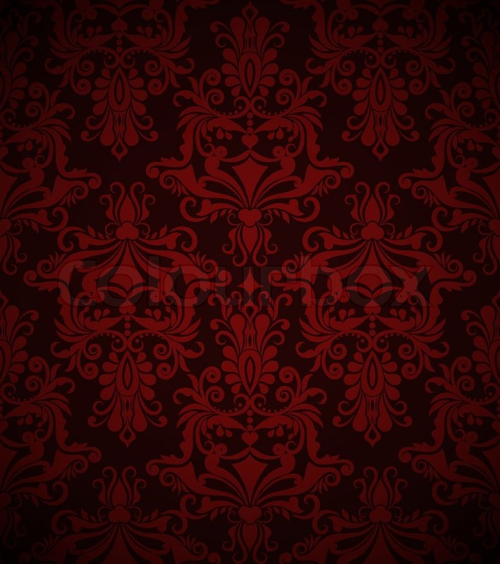 Seamless dark red vintage Vektor Tapetenmuster ...