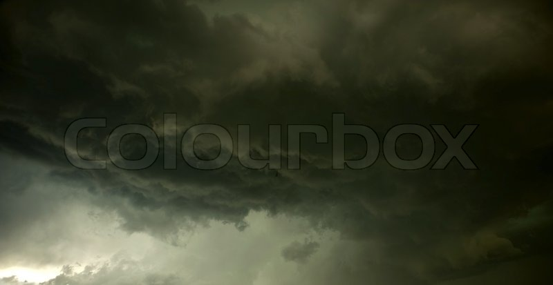Thunderstorm. Storm Fury. Extreme Stormy Cloudscape. Weather Photo Collection, stock photo