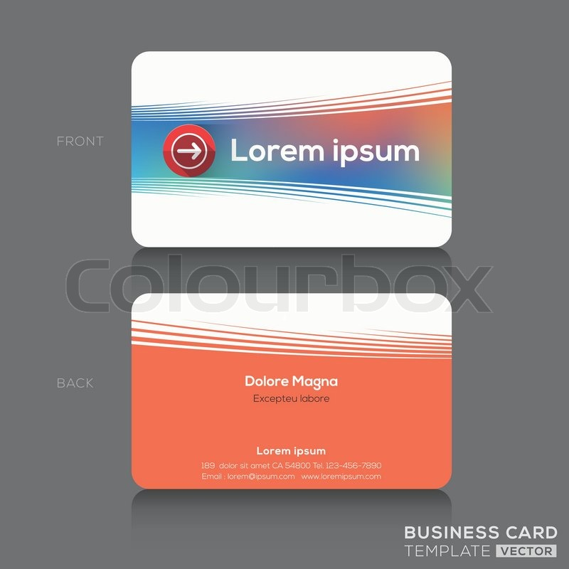 Business cards Name card Design Template | Stock Vector | Colourbox