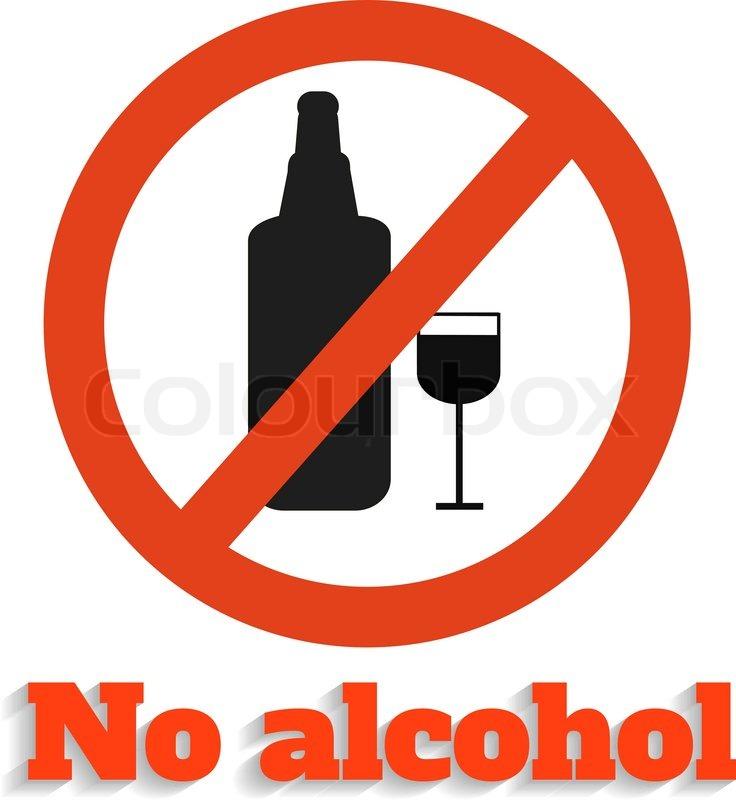 No alcohol icon on white | Vector | Colourbox