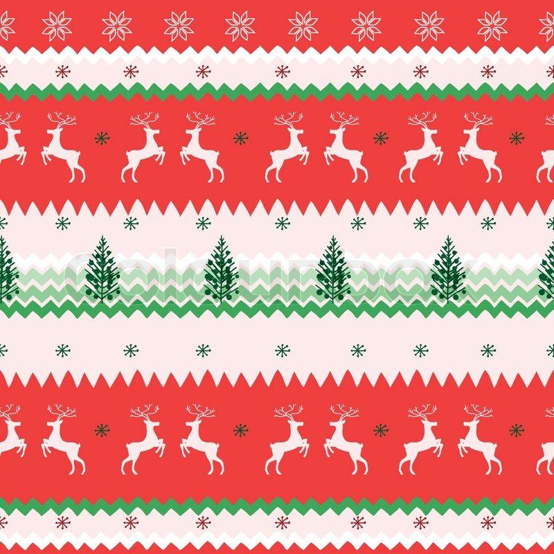 nahtlose weihnachten muster vektorgrafik colourbox