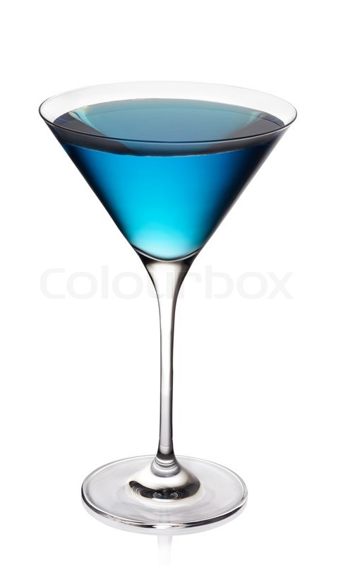 Blue cocktail  Blue cocktail | Stockfoto | Colourbox