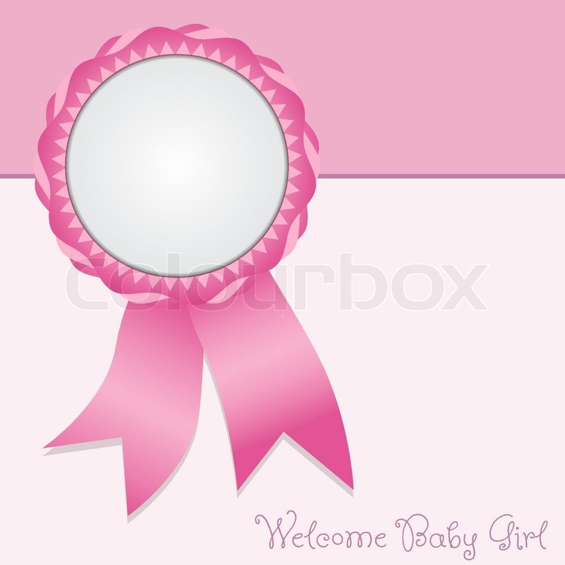 Greeting card welcome baby girl stock vector colourbox greeting card welcome baby girl vector m4hsunfo