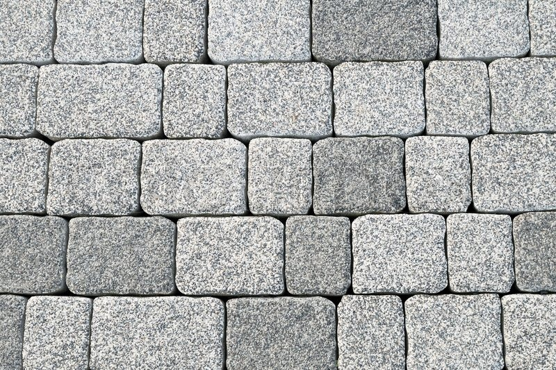 Abstract Cobblestone Pavement Texture Background Stock