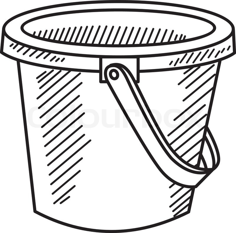 coloring plastic bucket