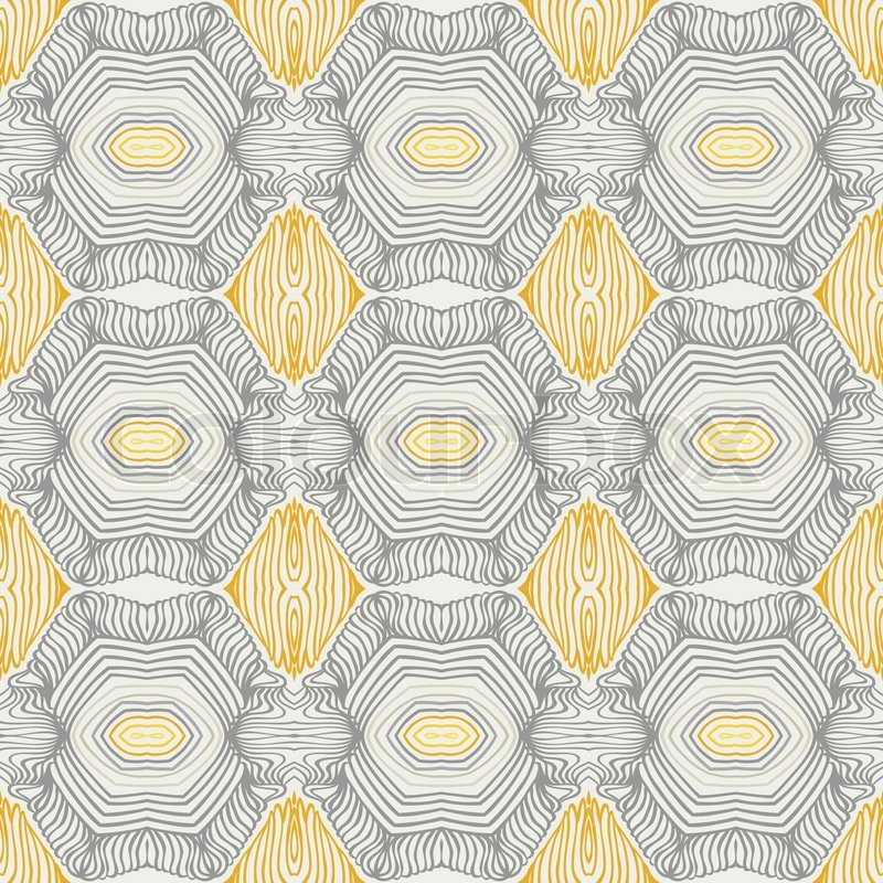 Abstract Vector nahtlose Muster mit Linien ähnlich dem 50er und ...