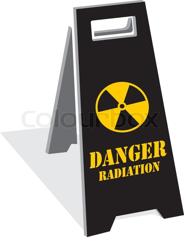Radiation Hazard Symbol Sign Of Radiation Threat Alert Icon Stock