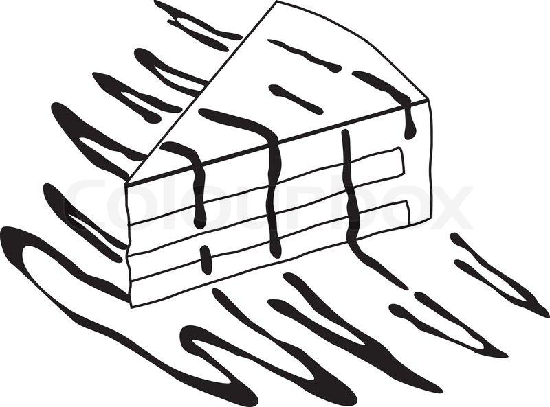 Stuck Kuchen Doodle1eps Vektorgrafik Colourbox