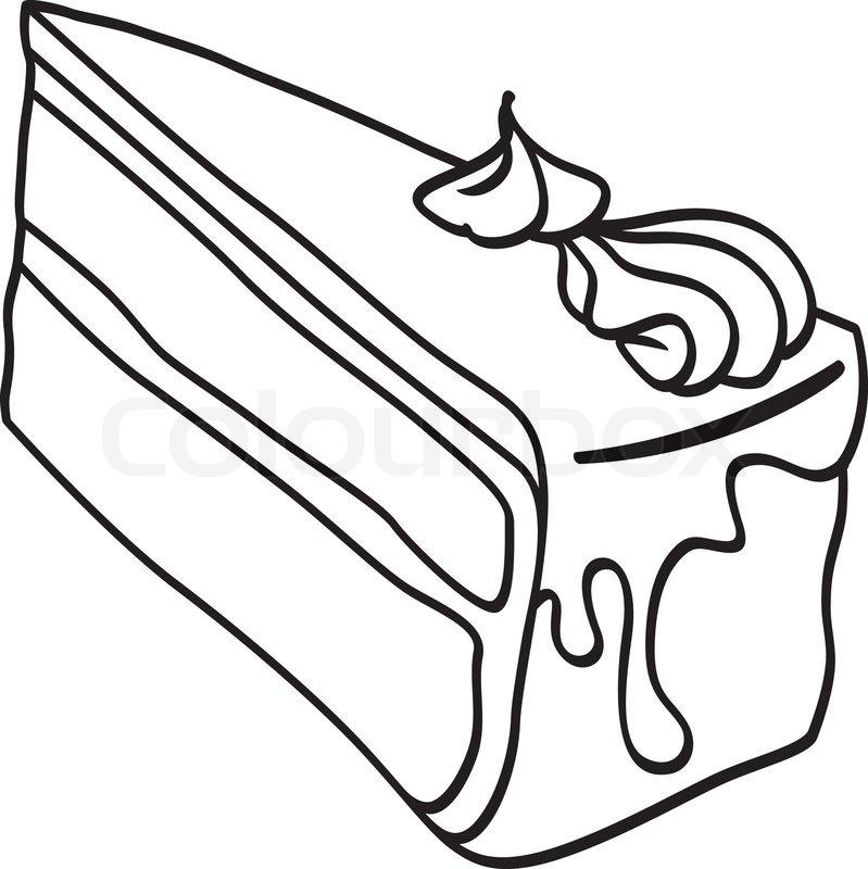 st ck kuchen doodle2eps vektorgrafik colourbox. Black Bedroom Furniture Sets. Home Design Ideas