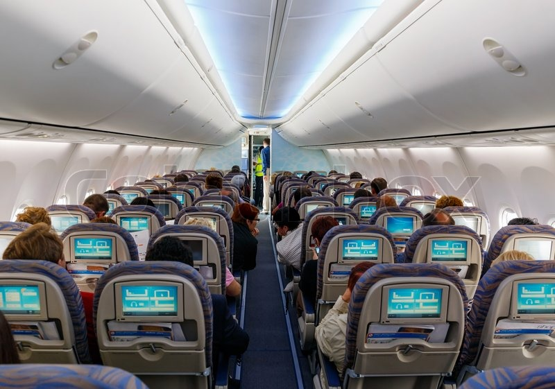 Interior Of Passenger Aircraft Stock Photo Colourbox