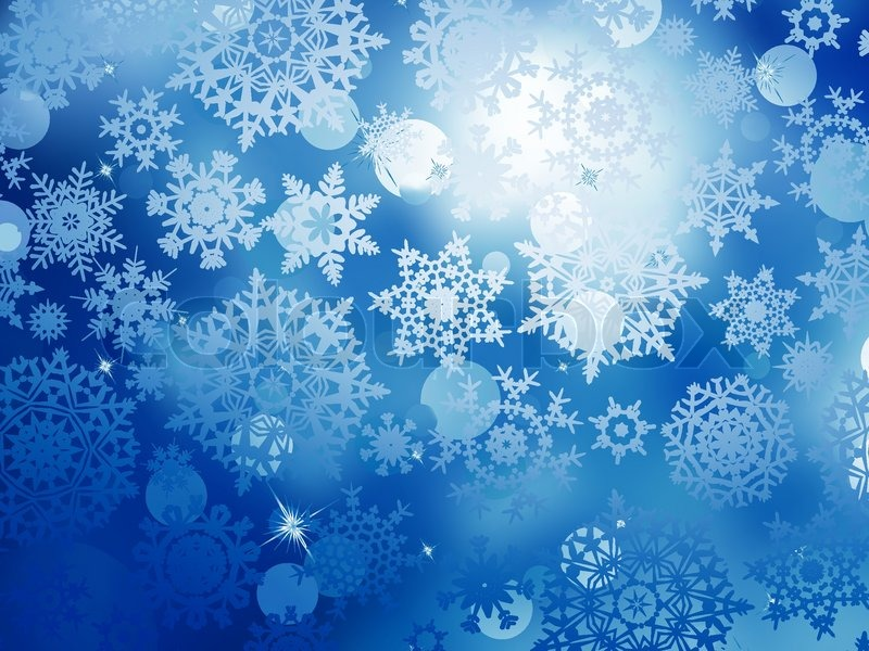 Blue Christmas Background With ...