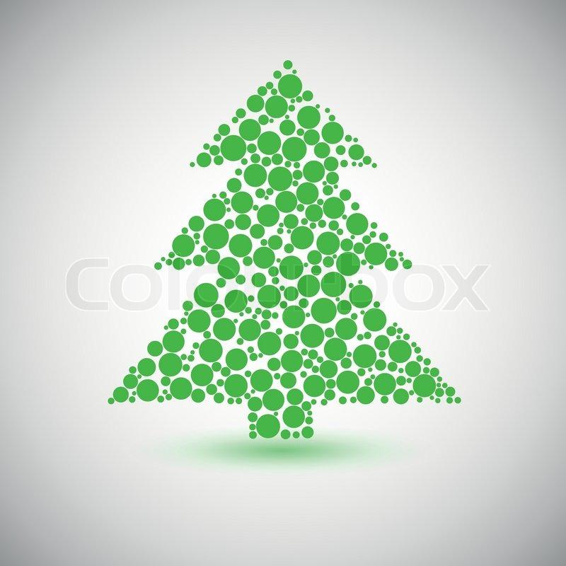 weihnachtsbaum symbol aus kreisen vektorgrafik colourbox. Black Bedroom Furniture Sets. Home Design Ideas