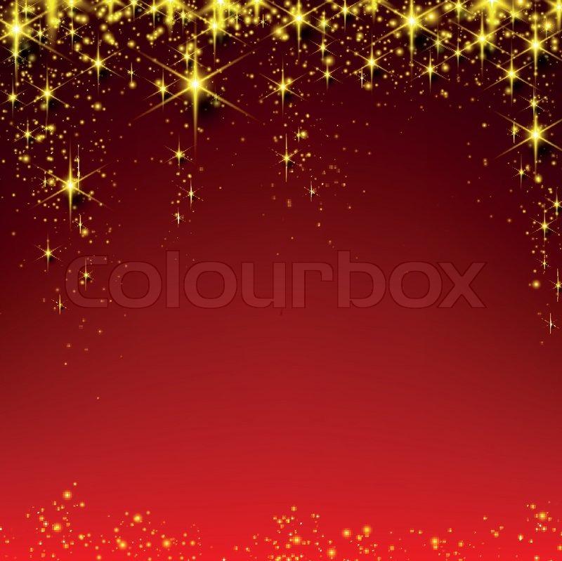 weihnachten rot sternenhimmel hintergrund stock vektor. Black Bedroom Furniture Sets. Home Design Ideas
