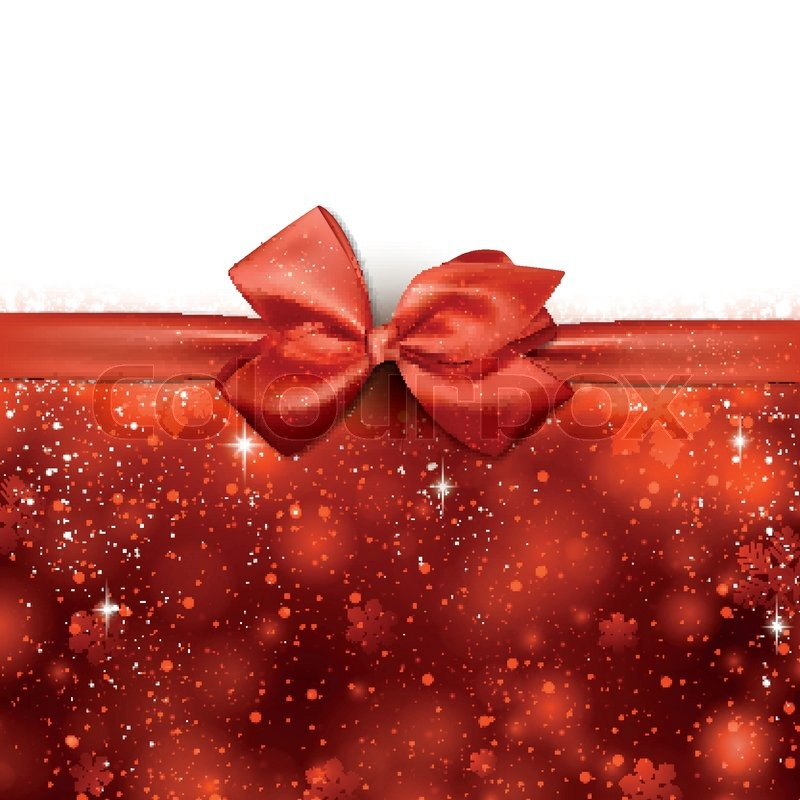Red Winter Abstract Background Christmas Background With
