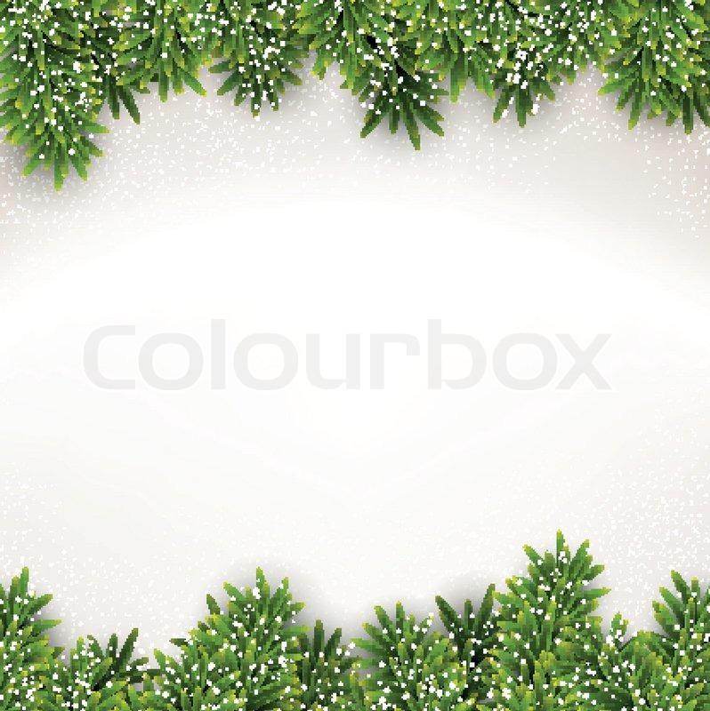 tanne weihnachten rahmen vektorgrafik colourbox. Black Bedroom Furniture Sets. Home Design Ideas