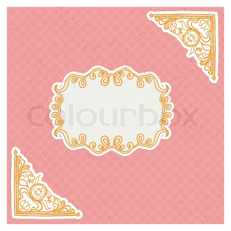 Decorative Corners And Frame In Stock Vector Colourbox