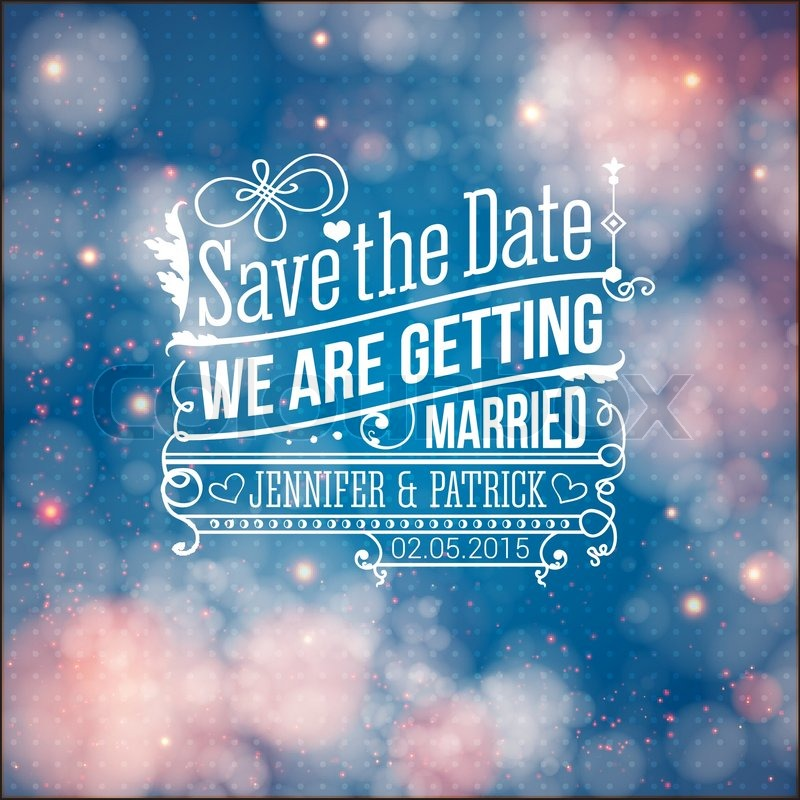 Save the date for personal holiday wedding invitation vector image save the date for personal holiday wedding invitation vector image stock vector colourbox toneelgroepblik Images