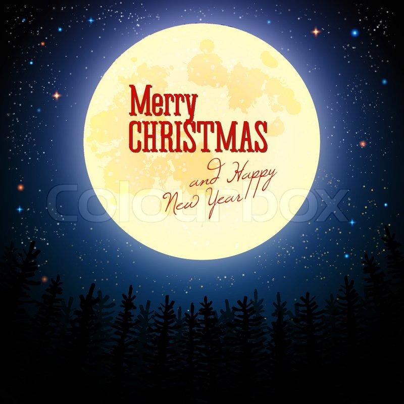 Frohe Weihnachten Schriftzug Beleuchtet.Weihnachtsgrußkarte Frohe Weihnachten Stock Vektor Colourbox