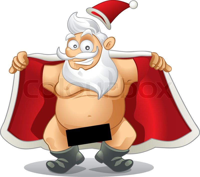 crazy vector of a flasher santa the censor box is great for high visibility text file type vector eps ai8 compatible stock vector colourbox