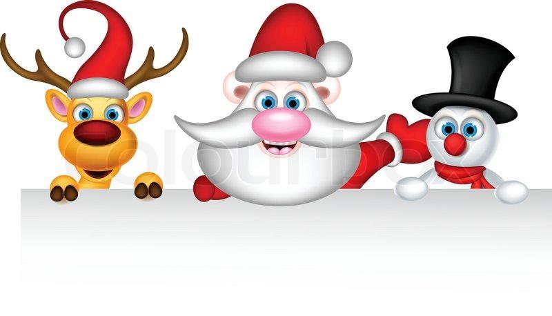 7b67f49261147 Vector illustration of reindeer santa ...