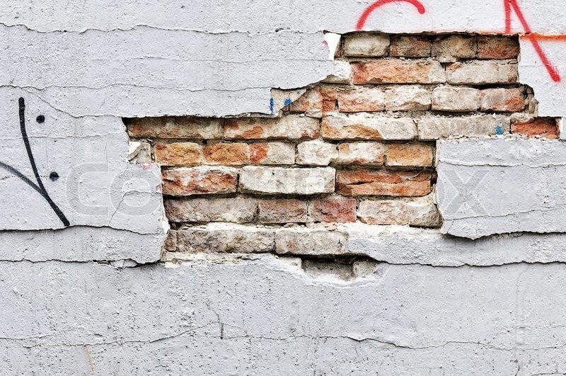 Broken wall texture, stock photo