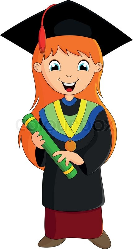 Beautiful Girl With A Sweet Smile After Graduation Stock