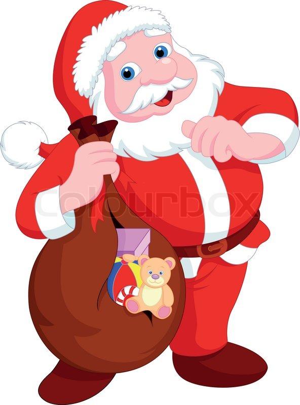 santa claus cartoon stock vector colourbox rh colourbox com santa claus vector art Santa Claus Face Clip Art