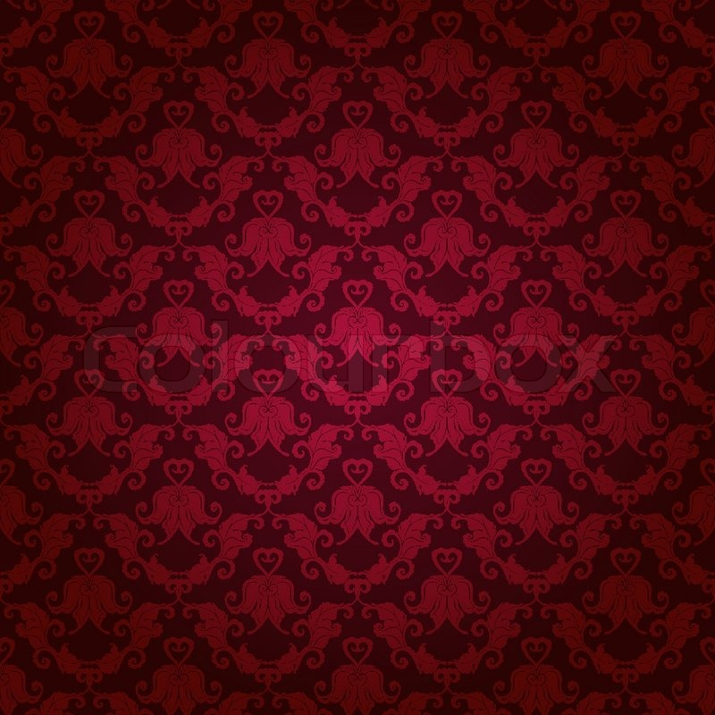 damask seamless floral pattern stock vector colourbox