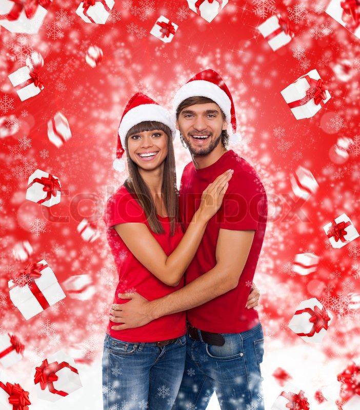 Christmas couple | Stock Photo | Colourbox