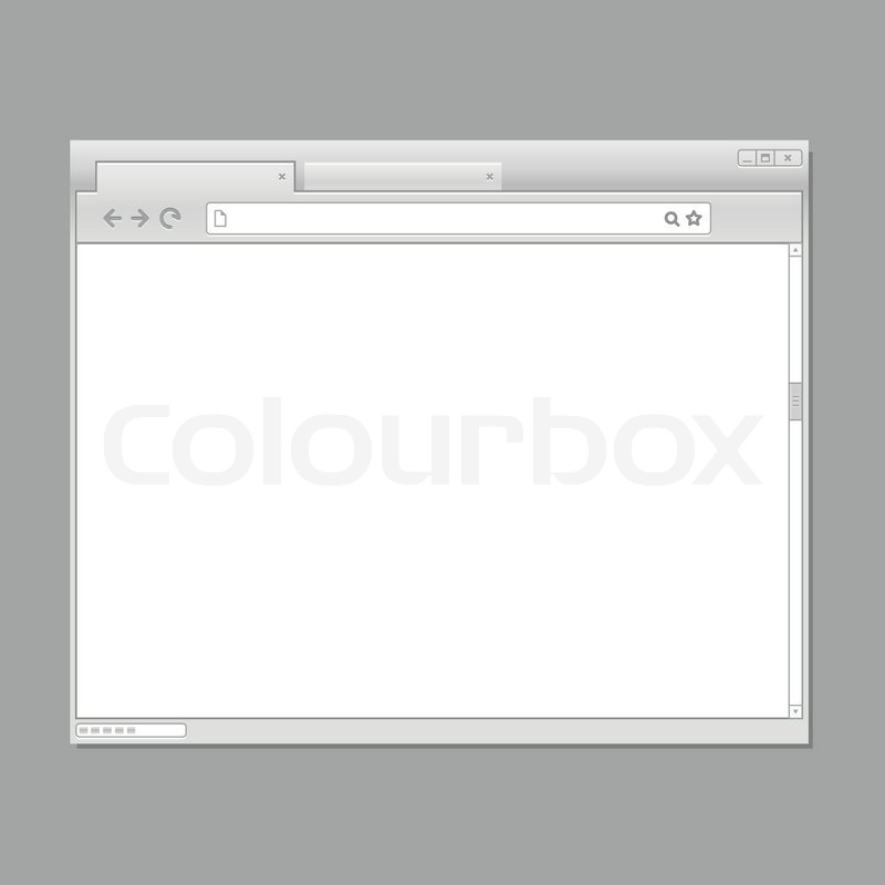 Modern Web Browser Template Ready For Stock Vector Colourbox