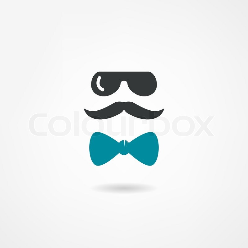 Glasses Mustache And A Bow Tie Stock Vector Colourbox