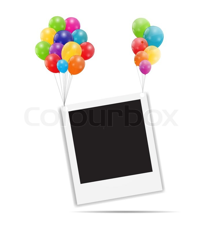 Farbe glänzend Ballons Geburtstagskarte | Vektorgrafik | Colourbox