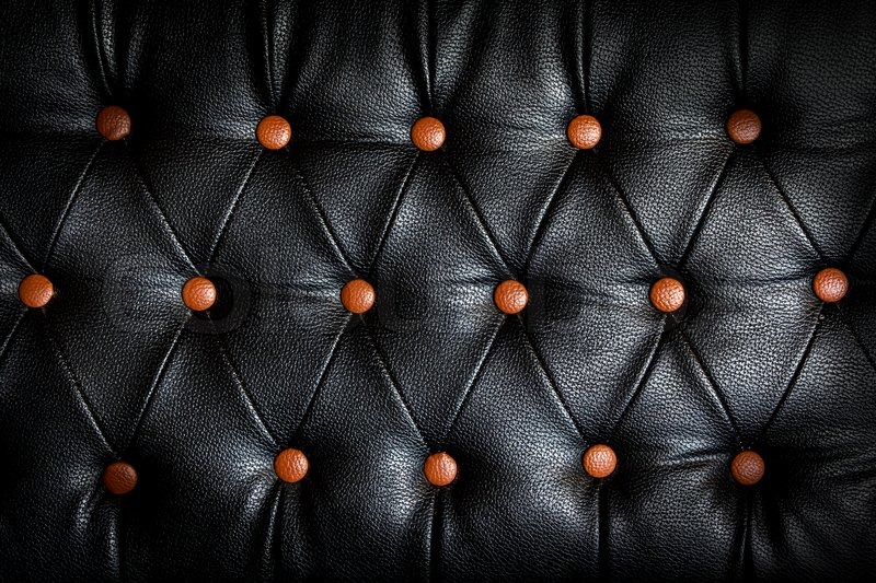 Black Leather Sofa With Red Dots Stock Photo Colourbox