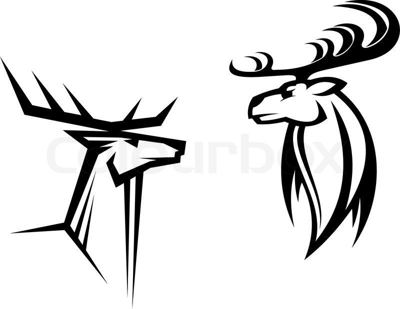 Line Drawing Deer : Dead deer sketch by snowapples on deviantart