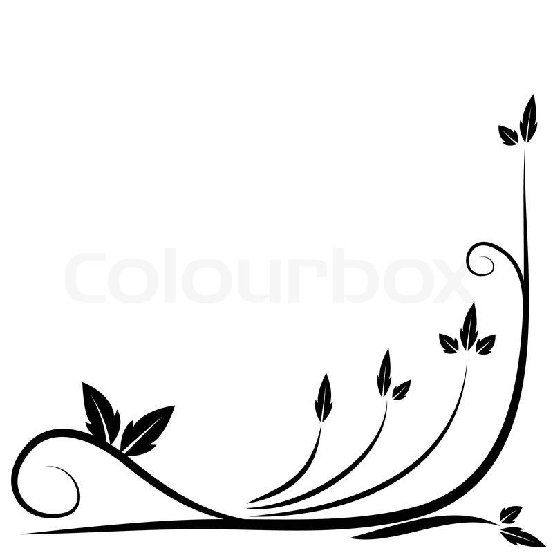 floral black border stock vector colourbox rh colourbox com vector and border coreldraw vector and border coreldraw