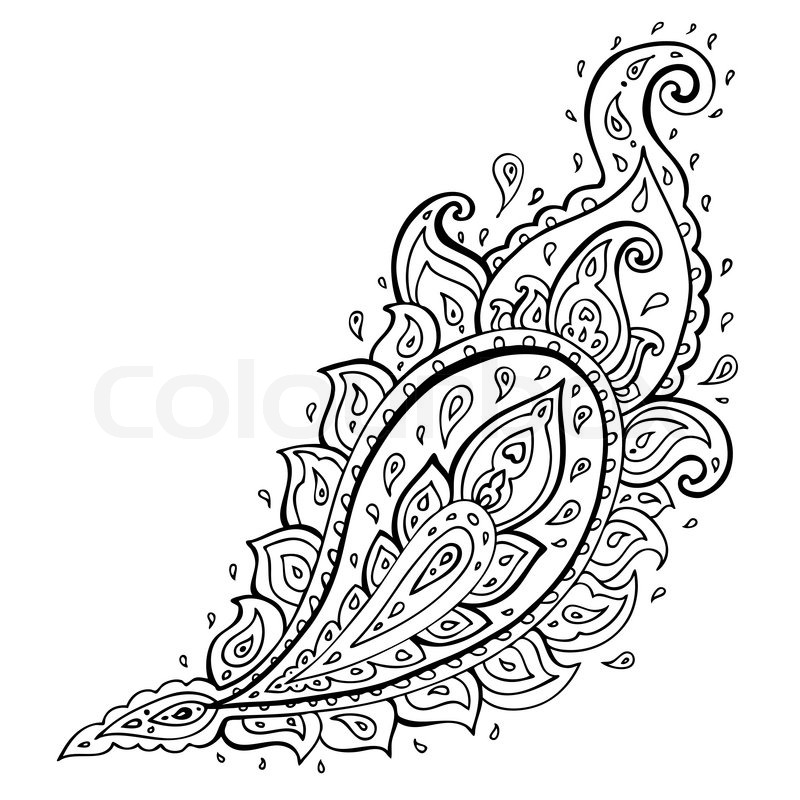 Paisley Ethnic ornament | Stock Vector | Colourbox