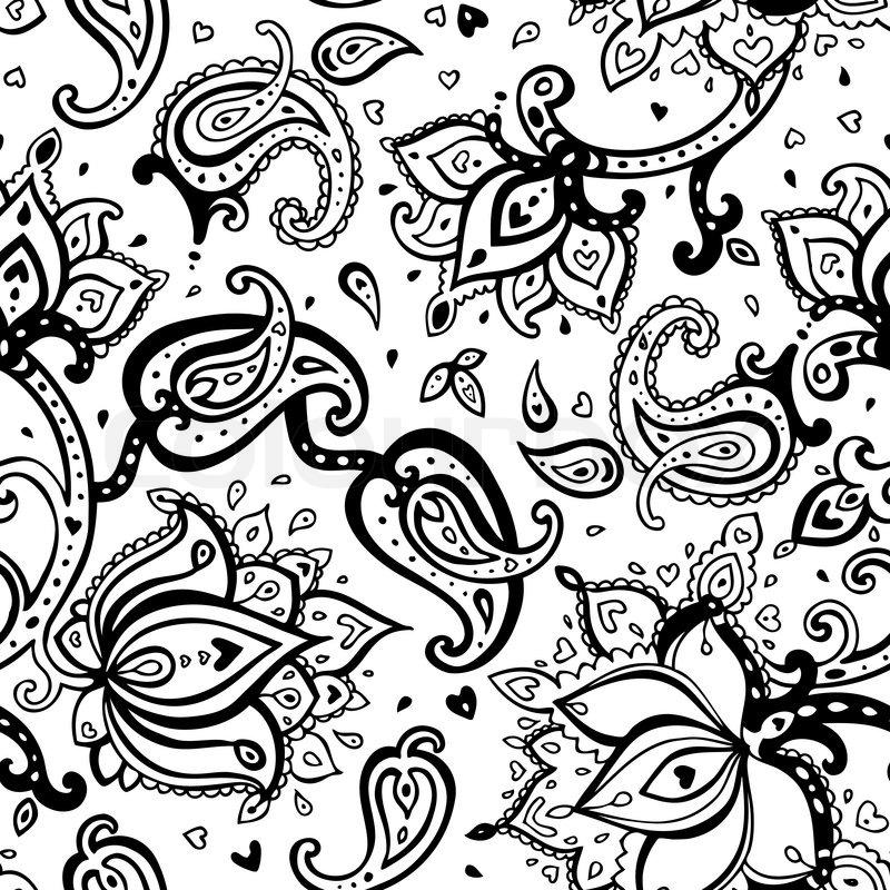 Seamless Paisley background | Stock Vector | Colourbox